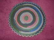 "Handbraided Round Wool Rug, 24""$25"
