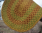 Rust Green Gold Oval SOLD