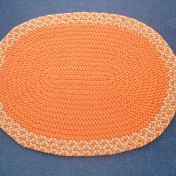 Orange Oval 2 x 3 SOLD