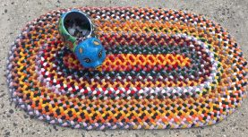 Bright colors accent rug. 36 x 20